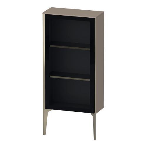 Semi-tall Cabinet With Mirror Door Floorstanding, Basalt Matte (decor)