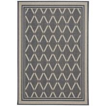 Finesse-Lattice Charcoal Machine Woven Rugs