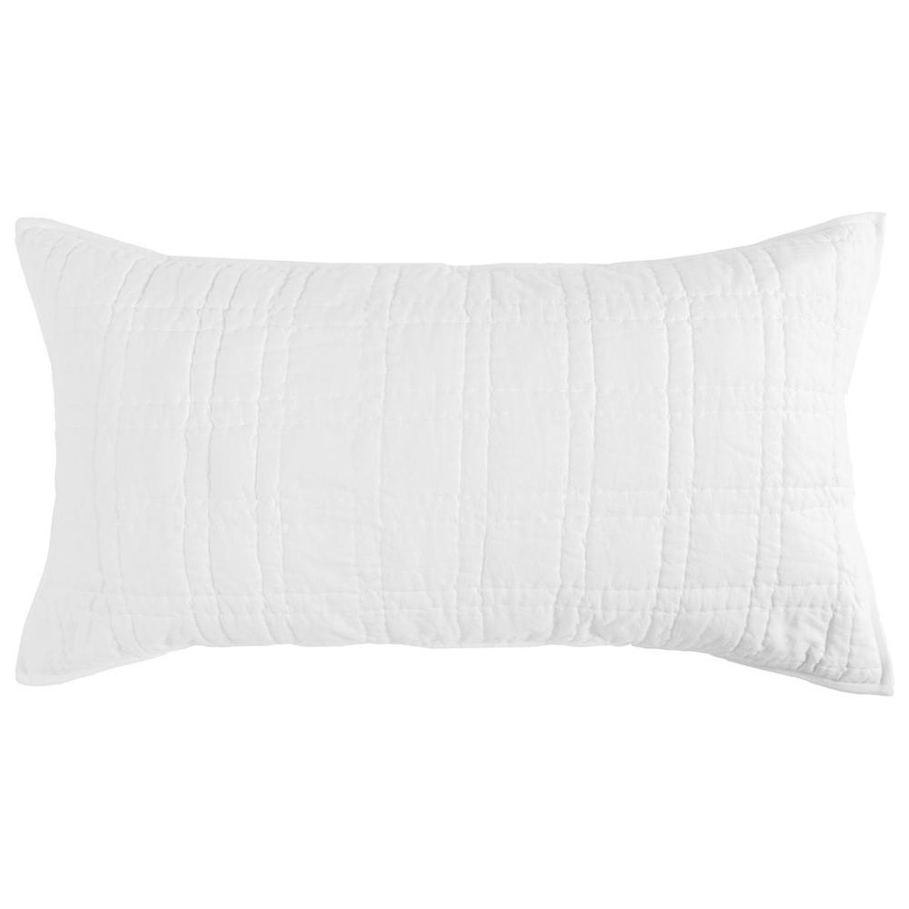 See Details - Carly White King Sham with SILVADUR Tech