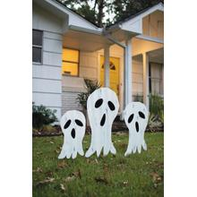View Product - set of 3 corrugated ghosts yard art