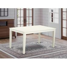 """Capri Rectangular dining table 36""""x60"""" with solid wood top In Linen White Finish"""