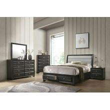 ACME Soteris Queen Bed w/Storage - 26540Q - Gray Fabric & Antique Gray