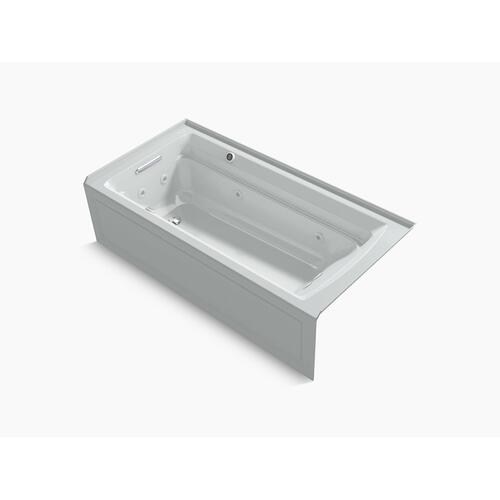 """Ice Grey 72"""" X 36"""" Integral Apron Whirlpool + Heated Bubblemassage Air Bath With Left-hand Drain"""
