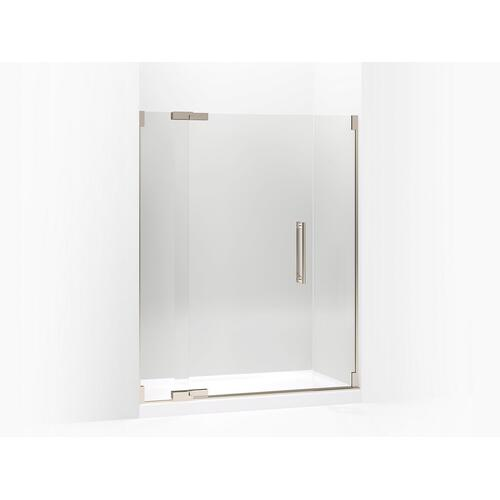"Crystal Clear Glass With Anodized Brushed Bronze Frame Pivot Shower Door, 72-1/4"" H X 57-1/4 - 59-3/4"" W, With 1/2"" Thick Crystal Clear Glass"