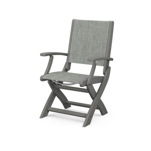 Coastal Folding Chair in Slate Grey / Birch Sling