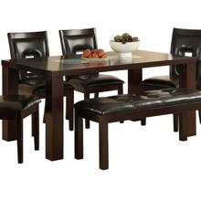 View Product - Dining Table, Crackle Glass Insert