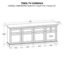 TS83L Custom TV Console