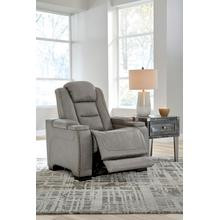 View Product - Power Leather Recliner with Adjustable Headrest, Lumbar, Reading Lights and Wireless Cell Phone Charging