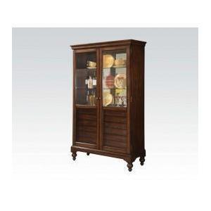 Acme Furniture Inc - Cherry Curio Cabinet W/6 Drw