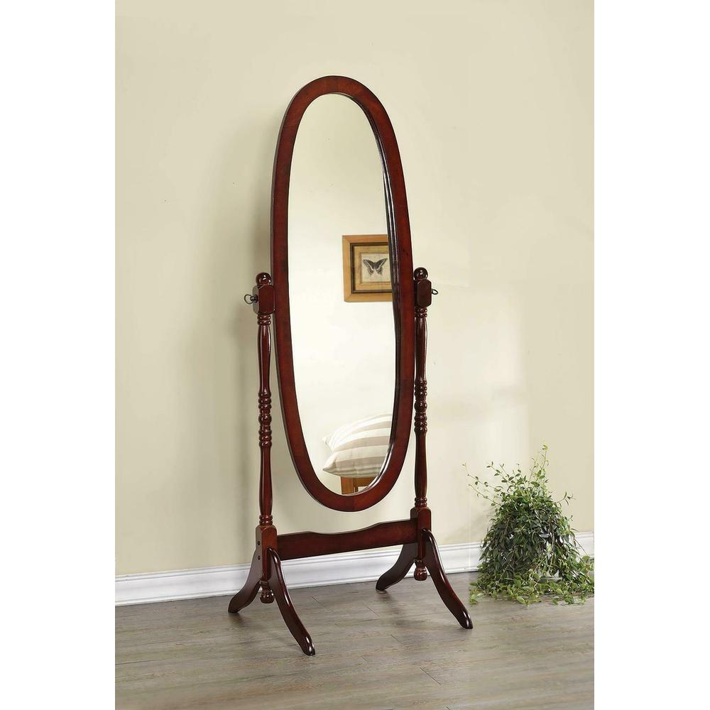 See Details - Traditional Warm Brown Floor Mirror