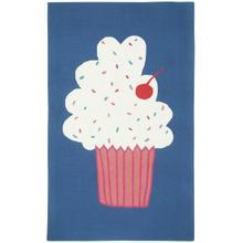 Cupcakes Blueberry Loop Hooked Rugs