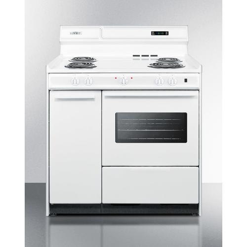 """36"""" Wide Electric Coil Top Range"""