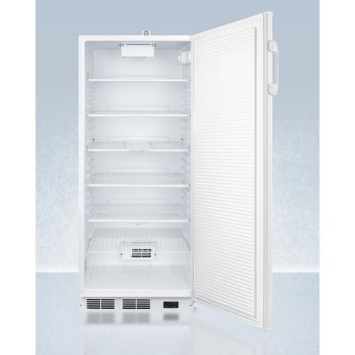 "24"" Wide 10 CU.FT. Auto Defrost Commercial All-refrigerator With Lock, Digital Thermostat, Internal Fan, and Access Port for User-provided Monitoring Equipment"