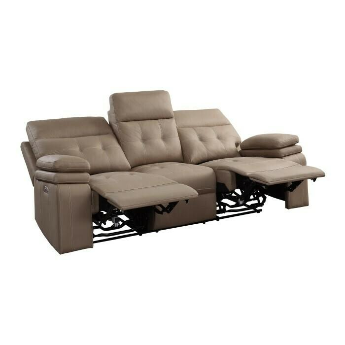 Power Double Reclining Sofa with Power Headrests and USB Port