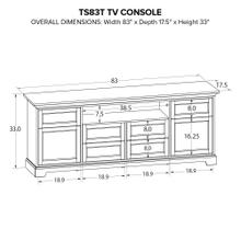 TS83T Custom TV Console
