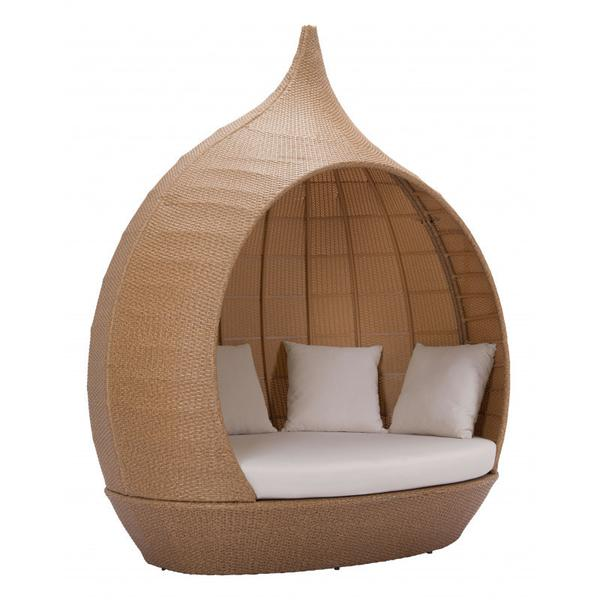 St Lucia Beach Daybed Beige & Natural