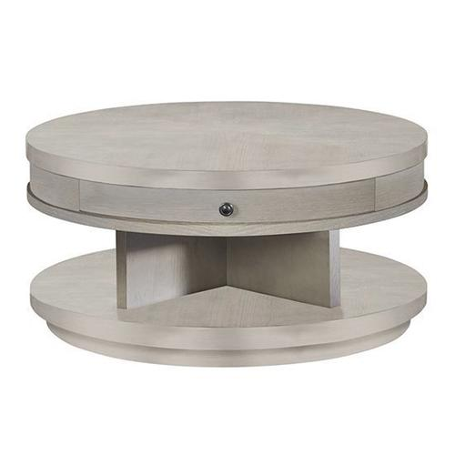Round Cocktail Table - Pearlized Gray Finish