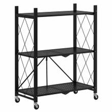 See Details - Quby Foldable 3-Tier Shelf in Black