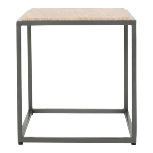 Winslow Marble Side Table Cappuccino
