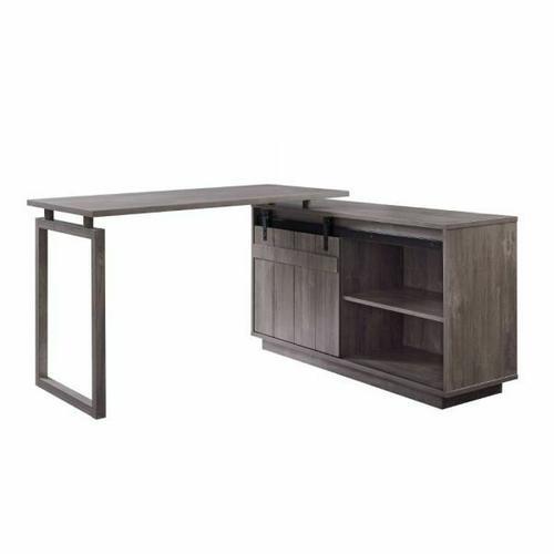 ACME Bellarosa Desk w/Cabinet - 92270 - Farmhouse - Wood (Rbw), MDF, PB - Gray Washed