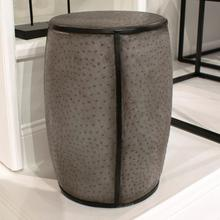 See Details - Faux Ostrich Skin Stool