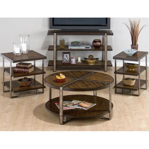 Round Cocktail Table W/ Shelf