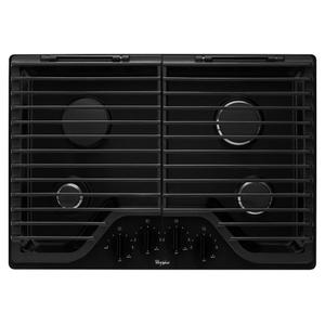 Whirlpool30 inch Gas Cooktop with EZ-2-Lift Hinged Cast-Iron Grates