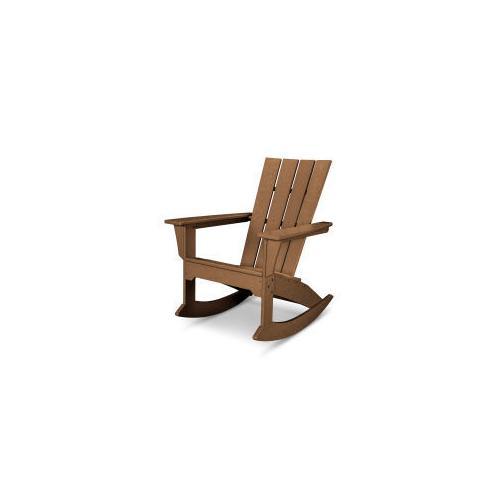 Polywood Furnishings - Quattro Adirondack Rocking Chair in Teak