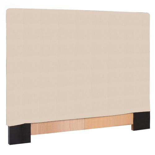 FQ Slipcovered Headboard Sterling Sand (Base and Cover Included)
