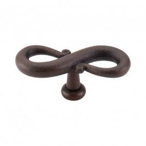 S-Shaped Knob 3 1/4 Inch - Patina Rouge