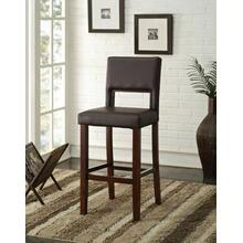 "ACME Reiko Bar Chair (1Pc) - 96612 - Black PU & Espresso - 30"" Seat Height"