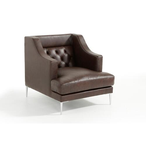 VIG Furniture - Estro Salotti Ulysses Modern Brown Italian Leather Sofa Set