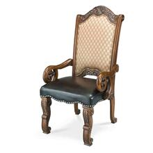 Fabric/leather Arm Chair