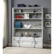 ACME Cargo Bookshelf & Ladder - 39882 - White Product Image