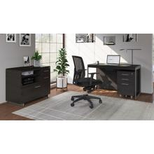 See Details - Sequel 20 6103 Compact Desk in Charcoal Satin Nickel