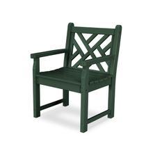 Green Chippendale Garden Arm Chair
