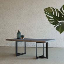 View Product - Modrest Sharon Modern Concrete & Black Metal Coffee Table