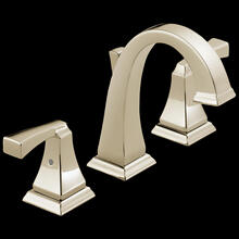 Polished Nickel Two Handle Widespread Bathroom Faucet