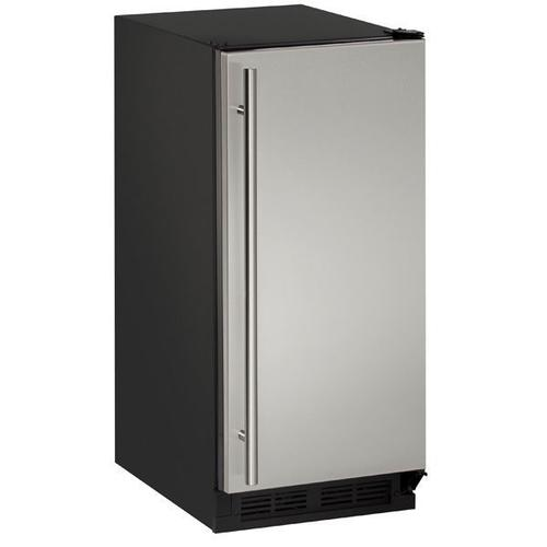 """15"""" Clear Ice Machine With Stainless Solid Finish, Yes (115 V/60 Hz Volts /60 Hz Hz)"""