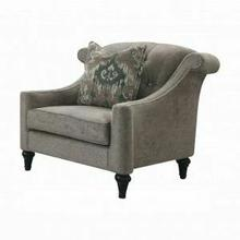 ACME Colten Chair w/Pillow - 52867 - Gray Fabric