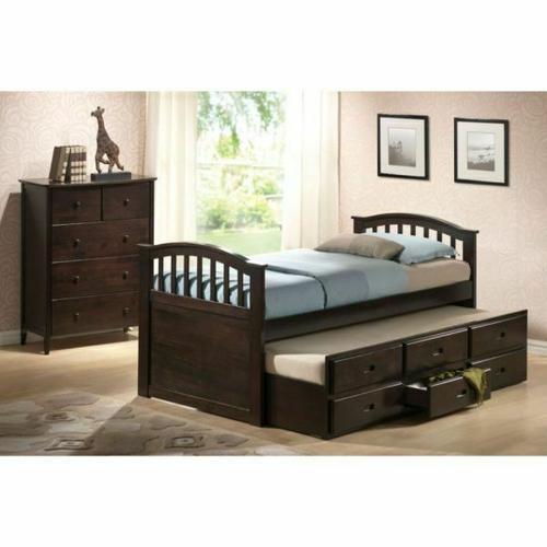 ACME San Marino Full Captain Bed & Trundle - 04993 - Dark Walnut