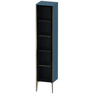 Tall Cabinet Floorstanding With Glass Door, Stone Blue High Gloss (lacquer)
