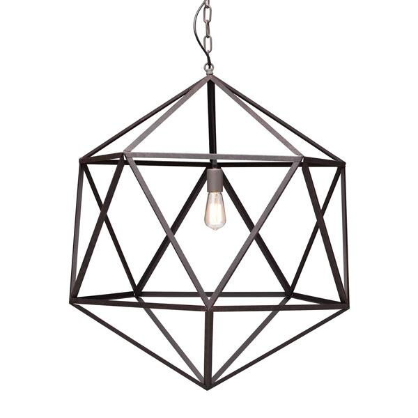 See Details - Amethyst Ceiling Lamp Large Rust