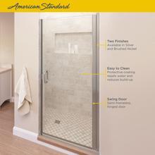 See Details - Semi-Frameless Swing Shower Door  American Standard - Brushed Nickel