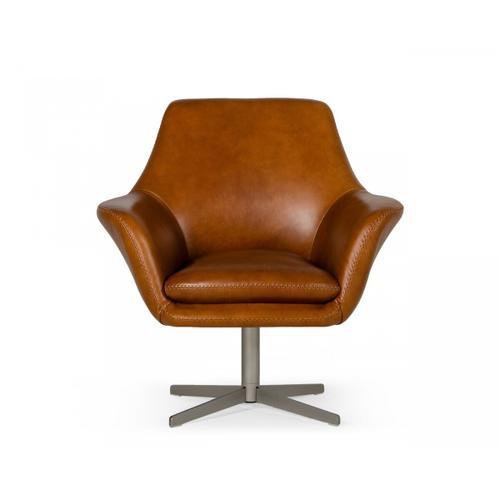 VIG Furniture - Divani Casa Elvin - Modern Leather Swivel Lounge Chair