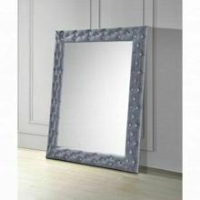 ACME Dante Accent Floor Mirror - 24237 - Glam - Velvet, Mirror - Gray Velvet