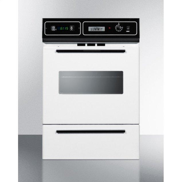 """Summit 24"""" Wide Gas Wall Oven"""