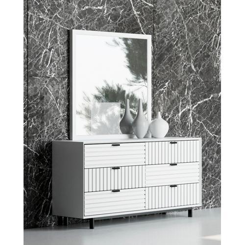 VIG Furniture - Nova Domus Valencia Contemporary White Mirror