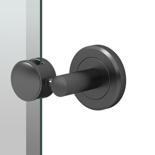 Latitude2 Oval Mirror in Matte Black