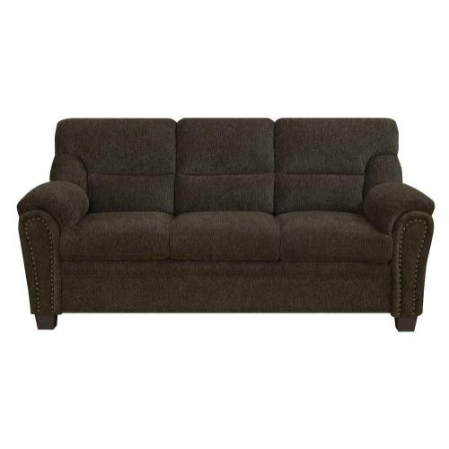 CLEARANCE Clementine Casual Brown Sofa